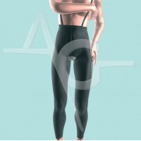 Girdle with abdominal extension ankle length