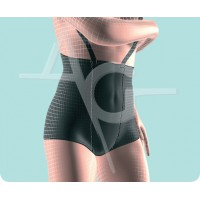 Abdominal supporter with straps