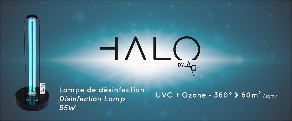 HALO - Disinfection Lamp UVC + Ozone 360° up to 60sqm